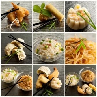 Selection of Chinese food
